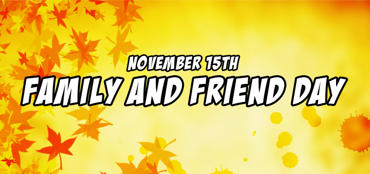 Family and Friend Day Blog Banner